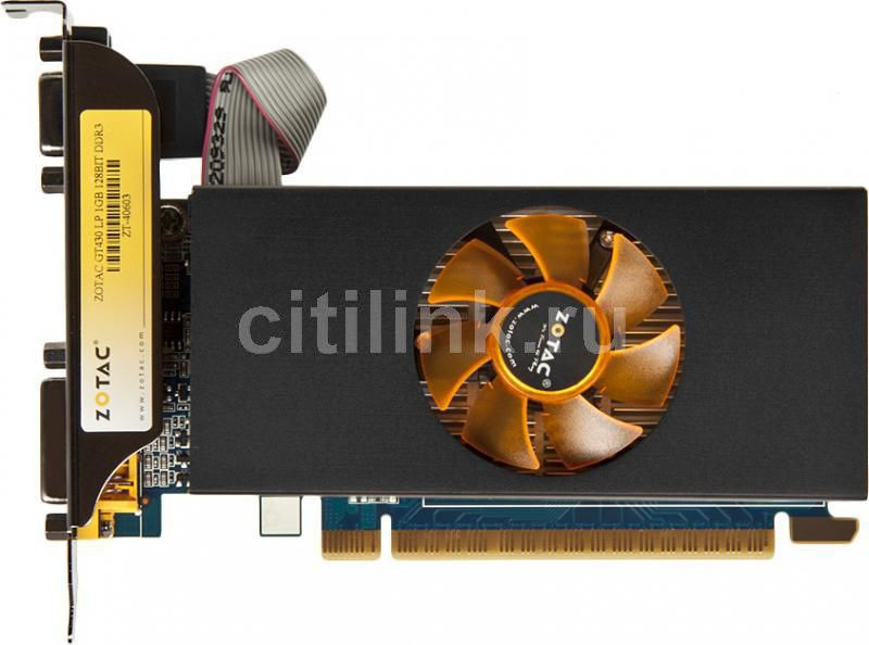 Видеокарта ZOTAC GeForce GT 430LP, ZT-40603-10L,  1Гб, DDR3, Low Profile,  Ret