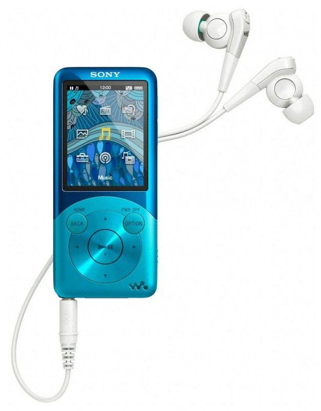 MP3 плеер SONY NWZS754 flash 8Гб синий