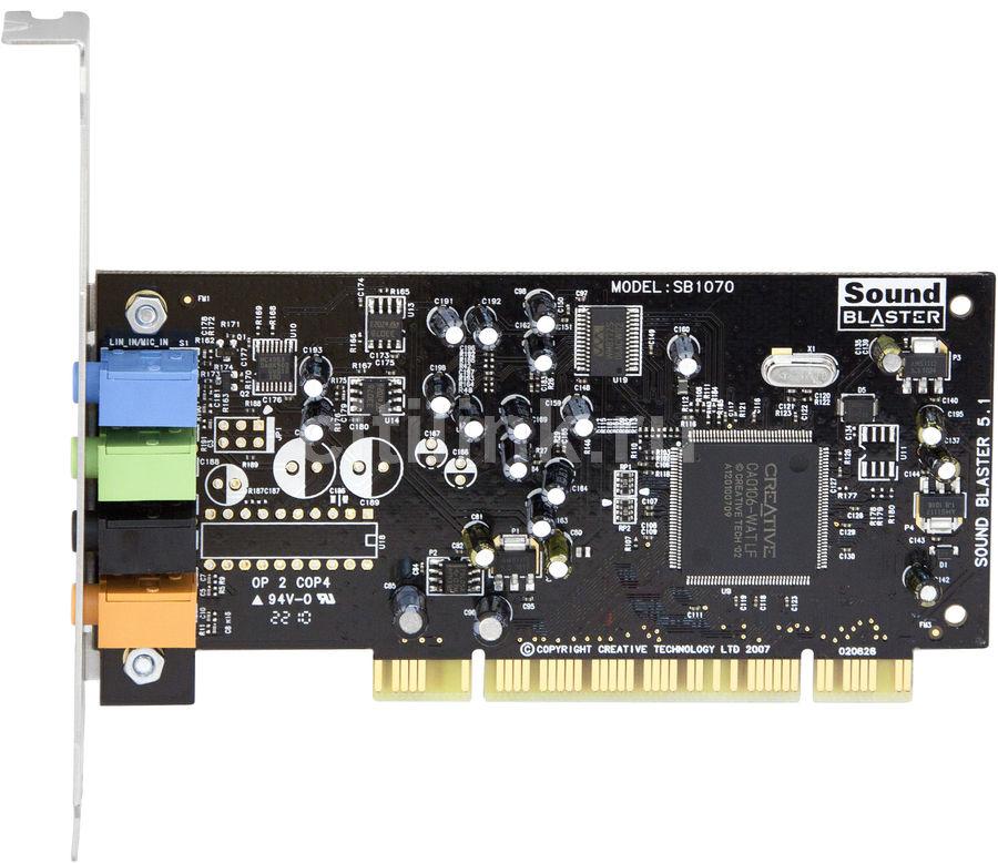 Звуковая карта PCI CREATIVE 5.1 VX,  5.1, Ret [70sb107100003]