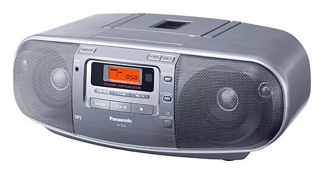 Аудиомагнитола PANASONIC RX-D50EE-S,  серебристый