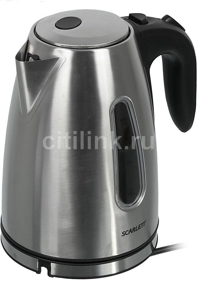 Чайник электрический SCARLETT SC-1022, 2000Вт, серебристый