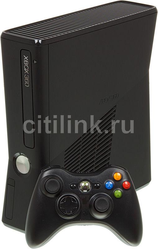 Игровая консоль MICROSOFT Xbox 360 RKB-00011, черный