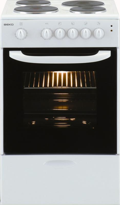 Электрическая плита BEKO CS 46100,  эмаль,  белый