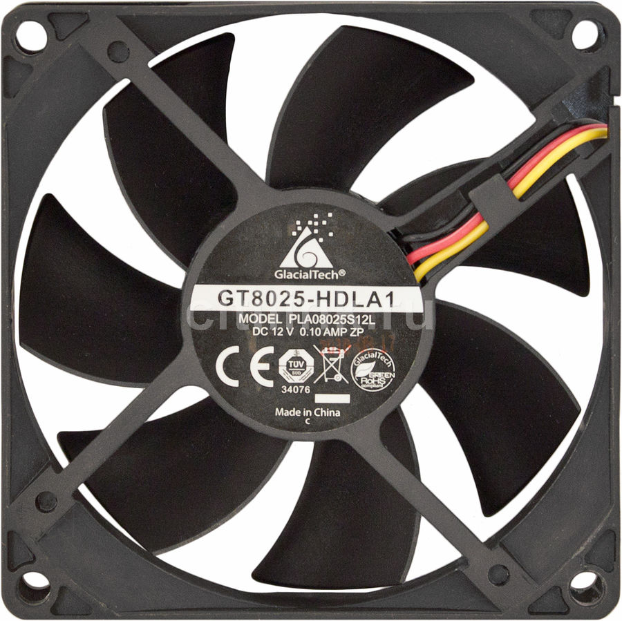 Вентилятор GLACIALTECH GT8025-HDLA1,  80мм, OEM