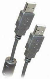 Кабель USB2.0  USB A (m) -  USB A (m),  ферритовый фильтр ,  1.8м,  серый [bw1403]
