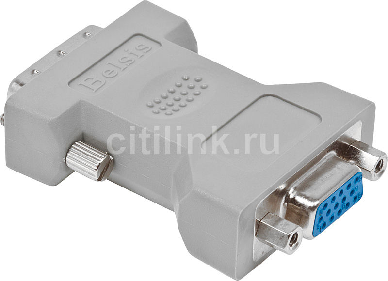 Переходник VGA  VGA HD15 (f) -  DVI-I(m),  серый [bw1474]