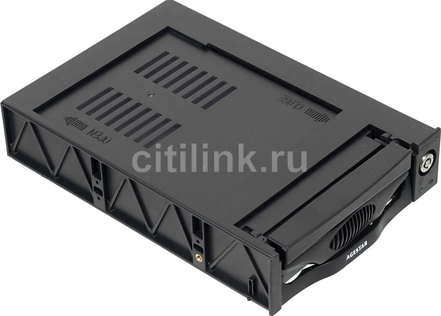 Mobile rack (салазки) для HDD AGESTAR MR3-SATA (K)-3F, черный orico 1109ss 3 5 hdd mobile rack