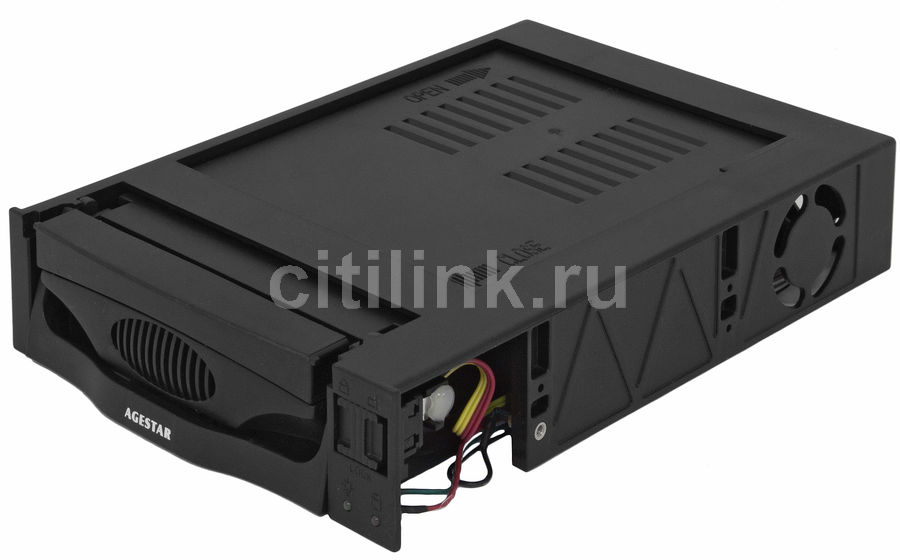 Mobile rack (салазки) для  HDD AGESTAR MR3-SATA(SW)-1F, черный