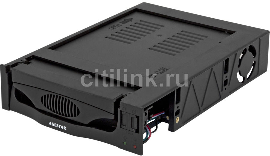Mobile rack (салазки) для HDD AGESTAR MR3-SATA(S)-1F, черный mobile rack agestar sr3p sw 3f sata black