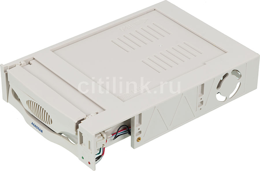 Mobile rack (салазки) для HDD AGESTAR MR3-SATA(S)-1F, бежевый mobile rack agestar sr3p sw 3f sata black