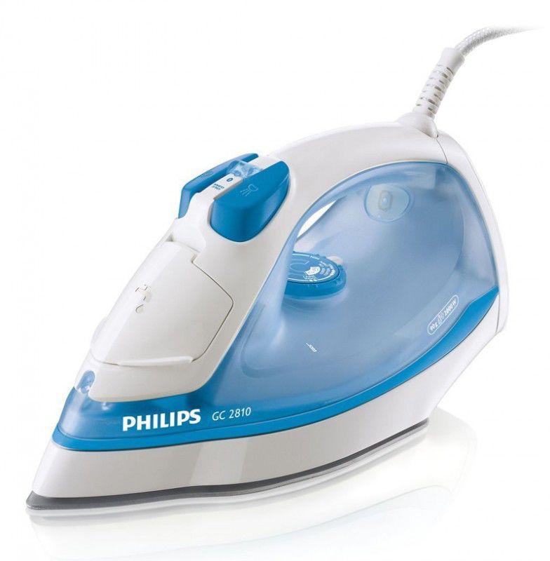 Утюг PHILIPS GC2805,  2000Вт,  голубой/ белый