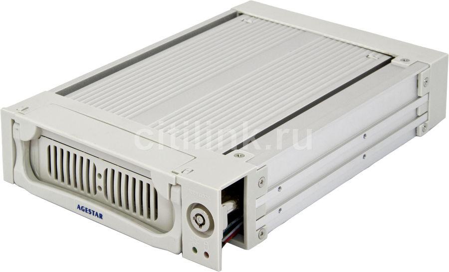 Mobile rack (салазки) для  HDD AGESTAR AMR1- SATA(K)-1F, серебристый