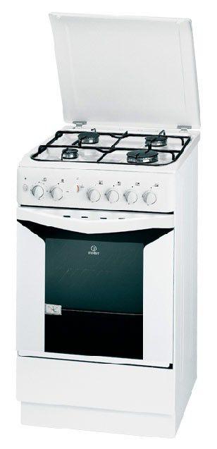 Газовая плита INDESIT K1G210 W/R,  газовая духовка,  белый