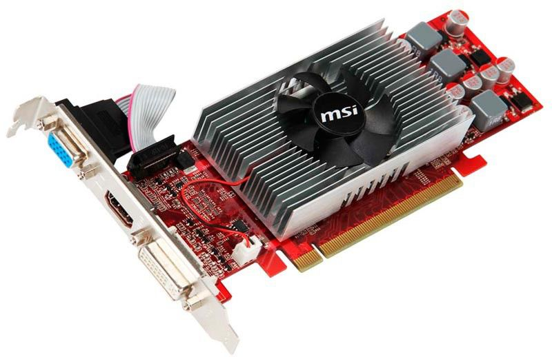 Видеокарта MSI GeForce GT 240,  512Мб, DDR3, Low Profile,  oem [n240gt-md512d3/lp]
