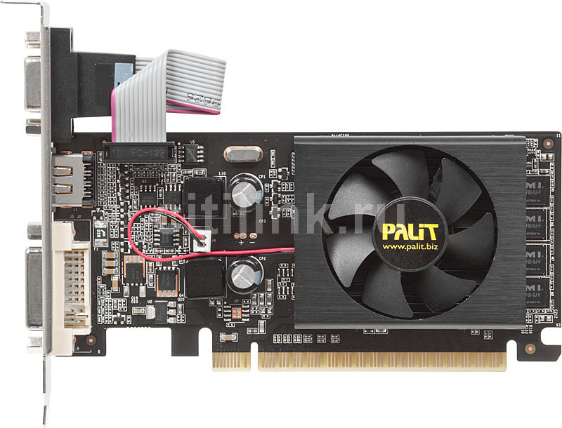 Видеокарта PALIT GeForce 210,  NEAG2100HD06-119XF,  1Гб, DDR3, oem