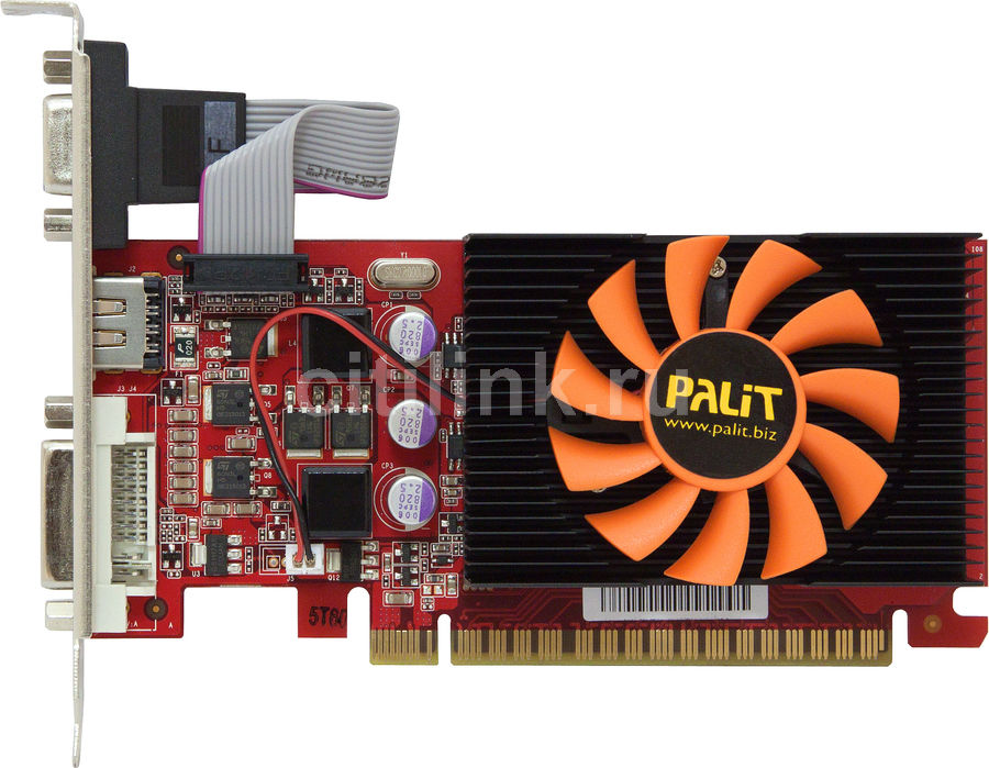 Видеокарта PALIT GeForce GT 430,  1Гб, DDR3, Low Profile,  oem [neat430nhd06-108xf]