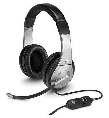 Наушники с микрофоном HP Premium Digital Headset,  XA490AA,  мониторы, серебристый  / черный