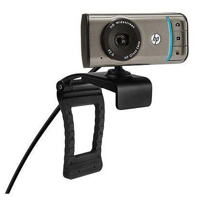 Web-камера HP Webcam HD-3100, BK356AA,  серебристый и черный