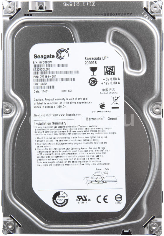 Жесткий диск SEAGATE Barracuda LP ST2000DL003,  2Тб,  HDD,  SATA III,  3.5