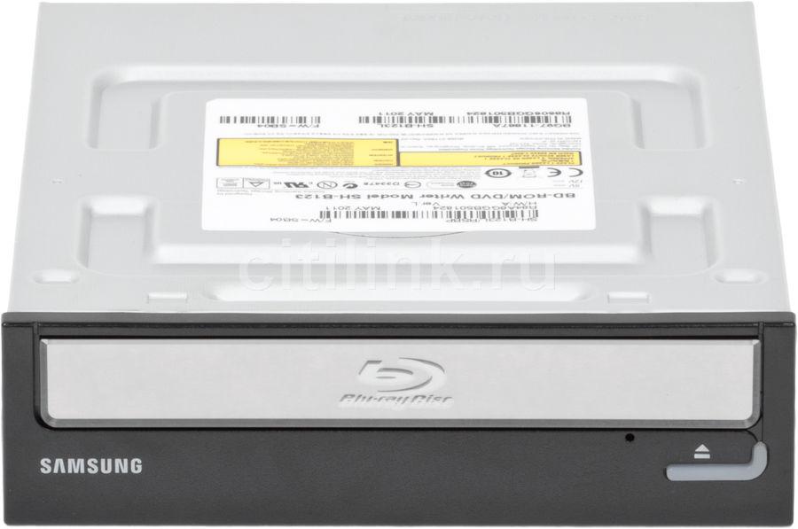 Оптический привод Blu-Ray SAMSUNG SH-B123L/RSBP, внутренний, SATA, черный,  Ret