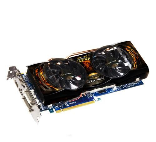 Видеокарта GIGABYTE GeForce GTX 460, GV-N460SO-1GI,  1Гб, GDDR5, OC,  Ret
