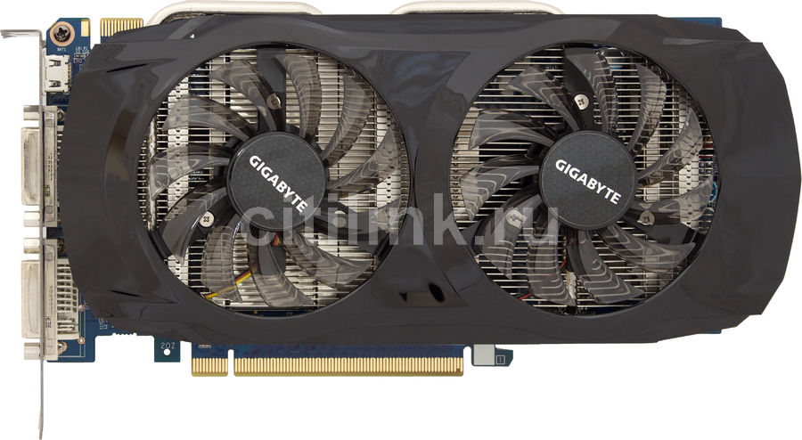 Видеокарта GIGABYTE GeForce GTX 460SE,  1Гб, GDDR5, OC,  Ret [gv-n460se-1gi]