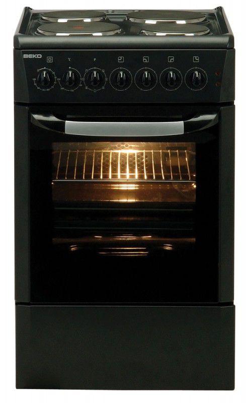 Электрическая плита BEKO CE56100 C,  эмаль,  черный