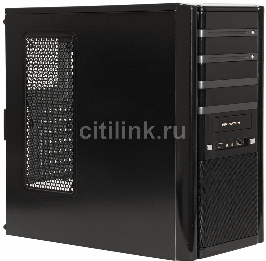 Корпус ATX EZCOOL HA-100B, Midi-Tower, без БП,  черный