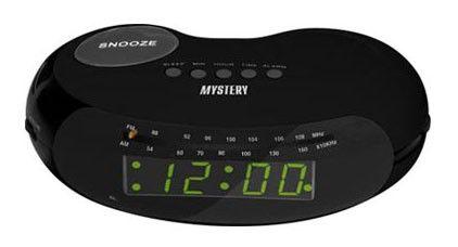 Радиобудильник MYSTERY MCR-31, зеленая подсветка,  черный
