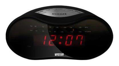 Радиобудильник MYSTERY MCR-33, красная подсветка,  черный