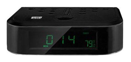 Радиобудильник MYSTERY MCR-66, зеленая подсветка,  черный