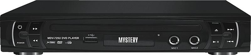 DVD-плеер MYSTERY MDV-729U,  черный