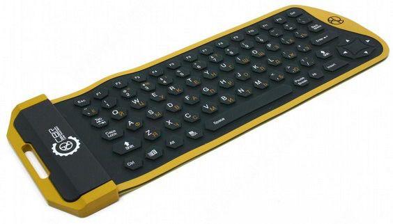 Клавиатура  KB-1001D,  USB, черный желтый