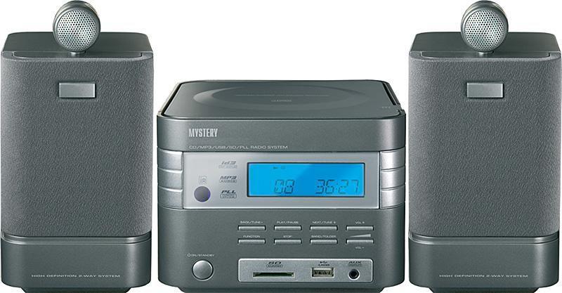 Музыкальный центр MYSTERY MMK-627,  серый