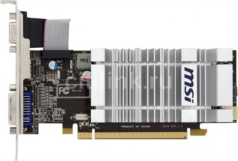 Видеокарта MSI Radeon HD 5450,  R5450-MD1GD3/LP,  1Гб, DDR3, Low Profile,  Ret [r5450-md1gd3h/lp]