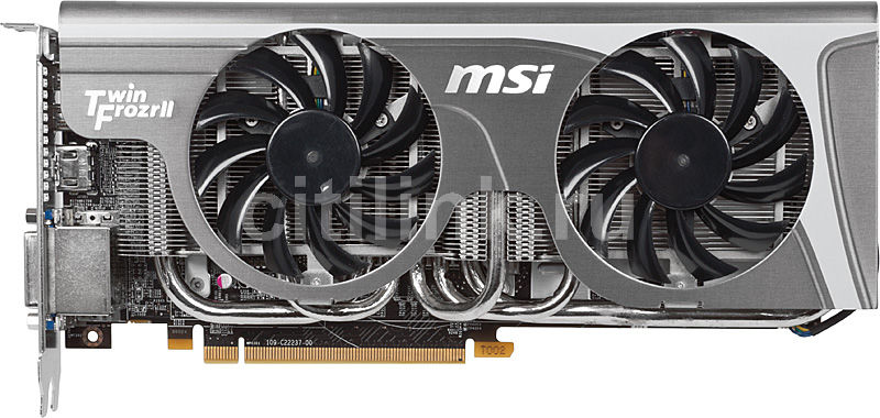 Видеокарта MSI R6870 Twin Frozr II/OC,  1Гб, GDDR5, OC,  Ret