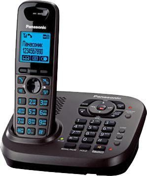 Радиотелефон PANASONIC KX-TG6561RUT,  темно-серый металлик