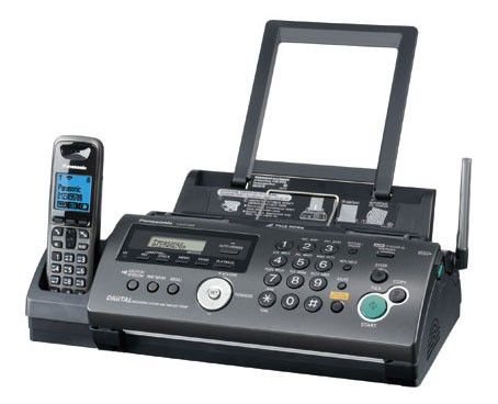Факс PANASONIC KX-FС268RU-T,  на основе термопереноса,  черный