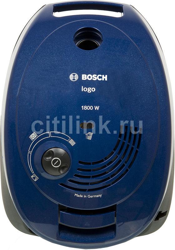 Пылесос BOSCH BSG61800RU, 1800Вт, синий