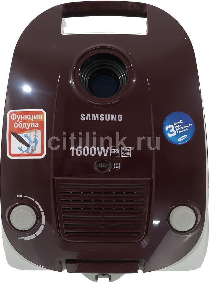 Пылесос SAMSUNG SC4141, 1600Вт, красный