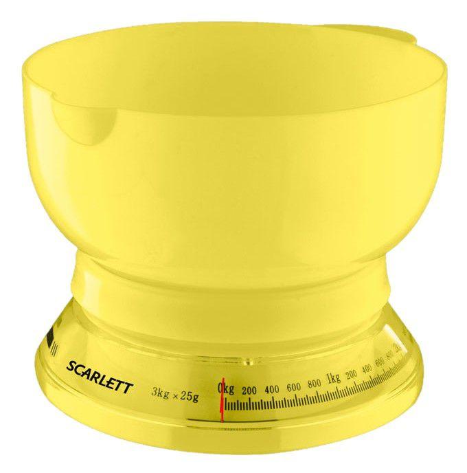 Весы кухонные SCARLETT SC1210,  желтый