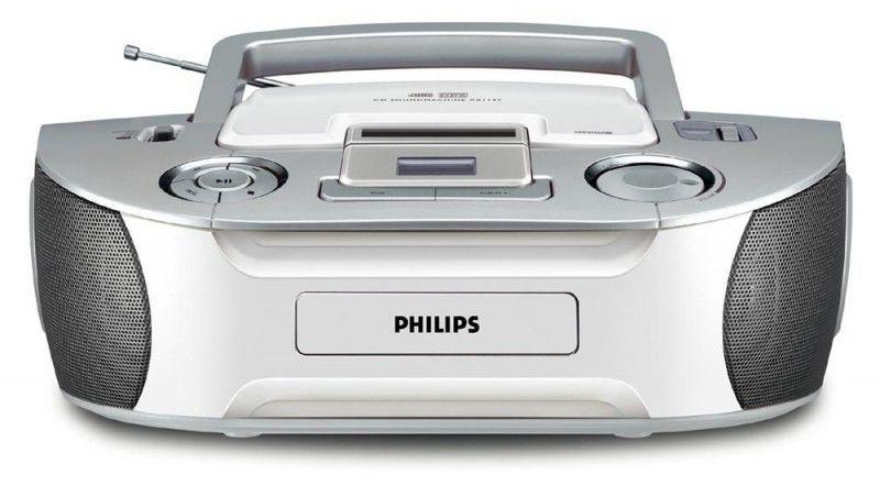 Аудиомагнитола PHILIPS AZ-1133/12,  серебристый