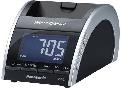 Радиобудильник PANASONIC RC-DC1EG-K, белая подсветка,  черный