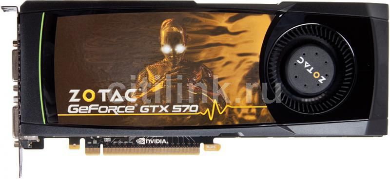 Видеокарта ZOTAC GeForce GTX 570,  1.3Гб, GDDR5, Ret [zt-50201-10p]