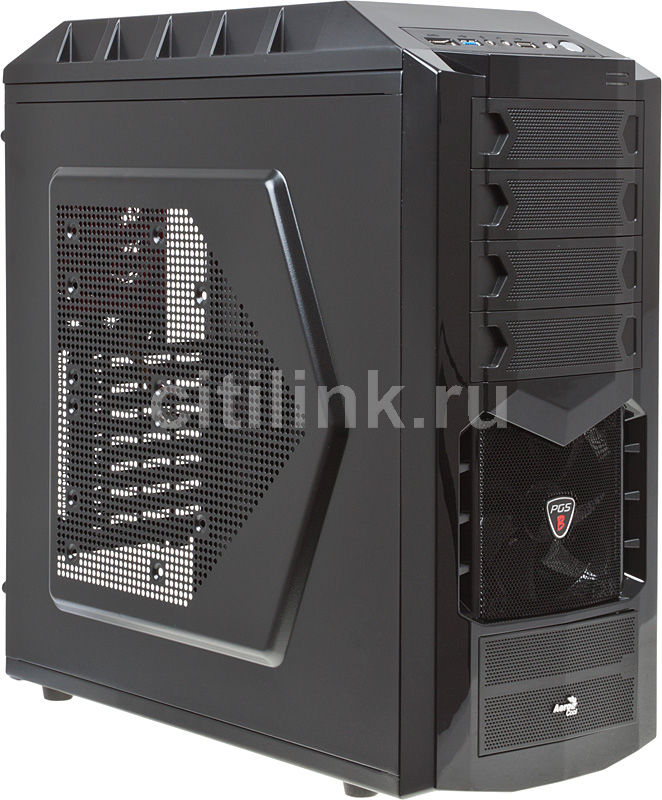 Корпус ATX AEROCOOL Hawk, Midi-Tower, без БП,  черный