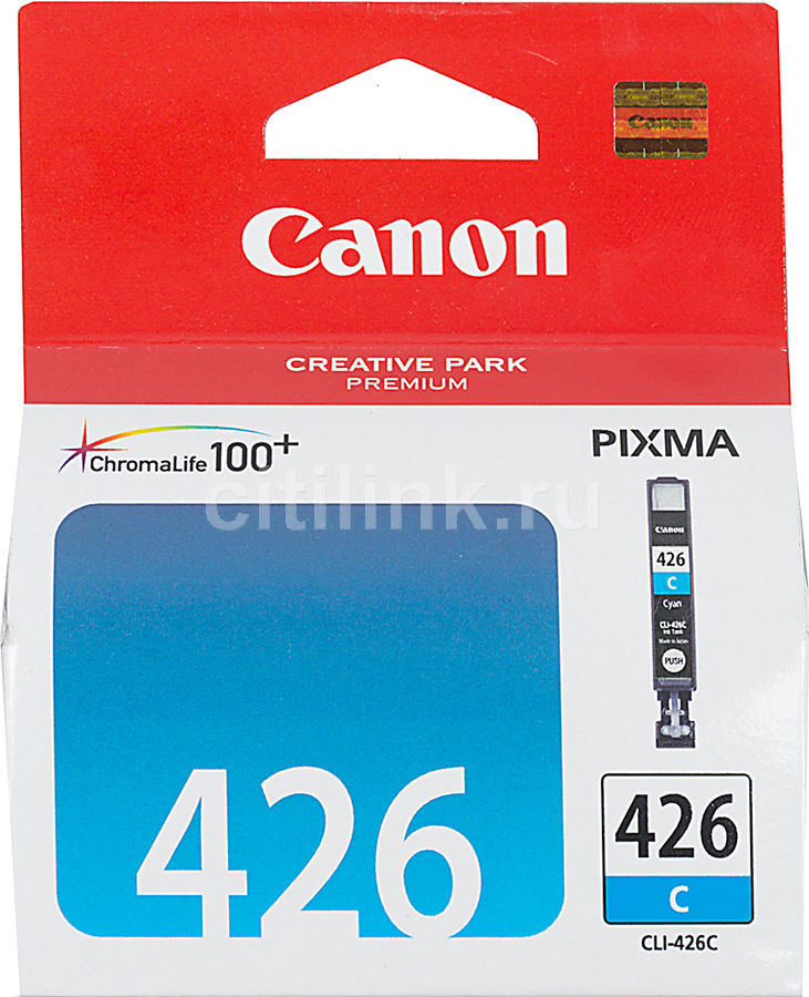 Картридж CANON CLI-426C голубой [4557b001] картридж colouring cg cli 426bk black для canon ip4840 mg5140 mg5240 mg6140 mg8140