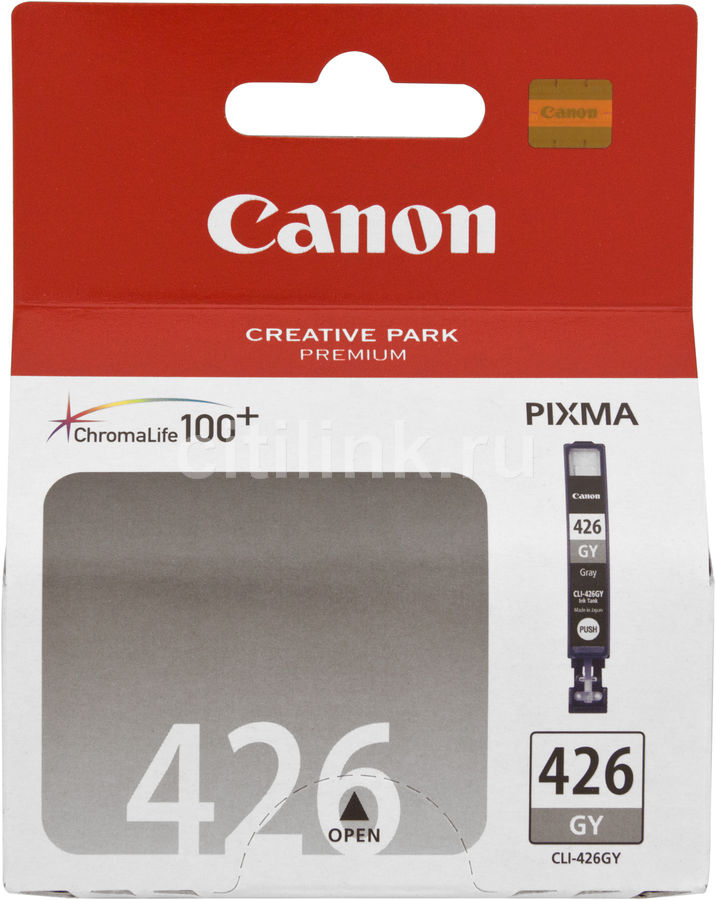 Картридж CANON CLI-426GY серый [4560b001] картридж colouring cg cli 426bk black для canon ip4840 mg5140 mg5240 mg6140 mg8140