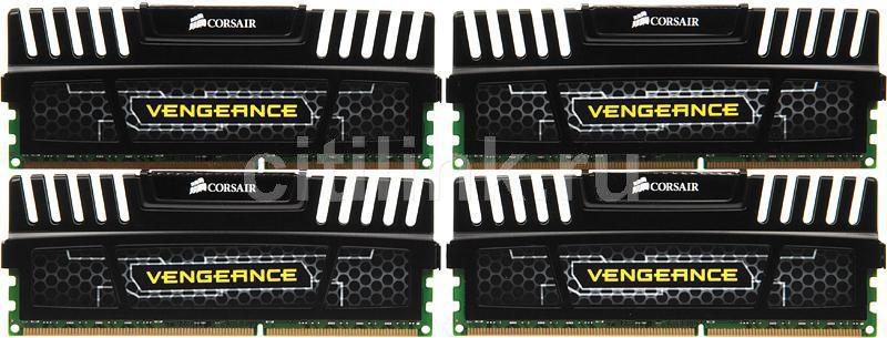 Модуль памяти CORSAIR Vengeance CMZ16GX3M4A1600C9 DDR3 -  4x 4Гб 1600, DIMM,  Ret