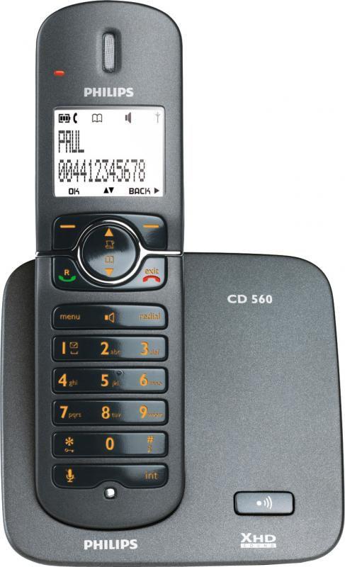 Радиотелефон PHILIPS CD5601,  черный [cd5601b/51]