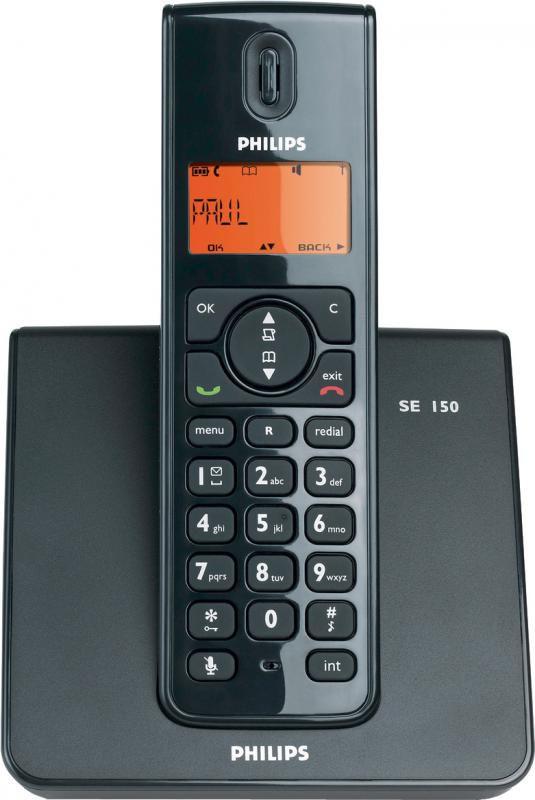 Радиотелефон PHILIPS SE1501,  черный [se1501b/51]